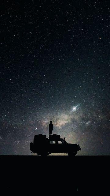 360x640 Wallpaper stars, sky, space, car