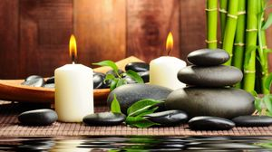 Preview wallpaper stones, candles, aromatherapy, spa, water, bamboo, massage