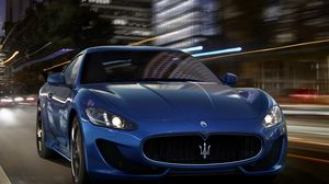 Preview wallpaper street, car, speed, maserati