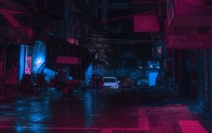 Preview wallpaper street, city, night, neon, light