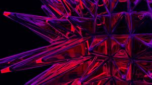 Preview wallpaper structure, crystal, spiny, sharp, red, purple
