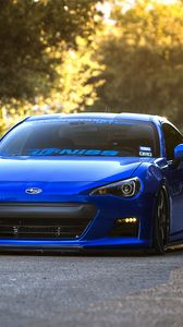 Preview wallpaper subaru, brz, blue, front, sports car, coupe