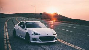 Preview wallpaper subaru brz, subaru, cars, sunset