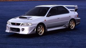 Preview wallpaper subaru, impreza, sti, s201, silver, side view
