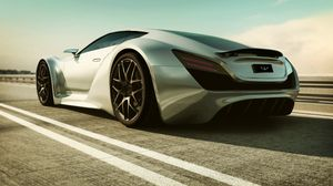 Preview wallpaper supercar, art, road, car