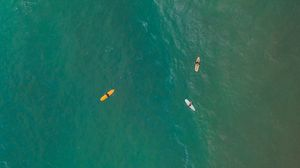 Preview wallpaper surfers, ocean, aerial view, water, surface