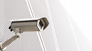 Preview wallpaper surveillance camera, camera, building, white, minimalism