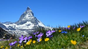 Preview wallpaper switzerland, matterhorn, alps, zermatt, mountains