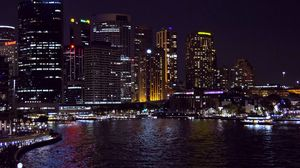 Preview wallpaper sydney, australia, night