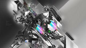 Preview wallpaper technology, robot, line, light
