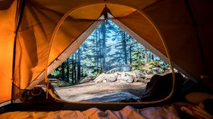 Preview wallpaper tent, camping, travel, tourism, nature