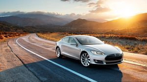 Preview wallpaper tesla, model s, tesla model s, gray