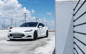 Preview wallpaper tesla model s, tesla, white, luxury