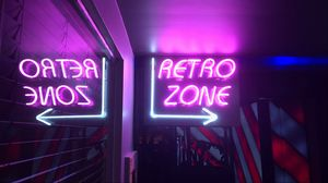 Preview wallpaper retro, zone, neon, arrow, sign