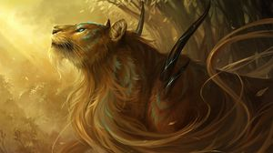 Preview wallpaper tiger, thorns, being