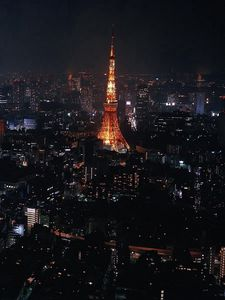 Preview wallpaper tokyo, japan, city, night, lights