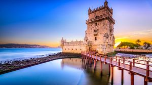 Preview wallpaper tower, bridge, belem, lisbon, portugal