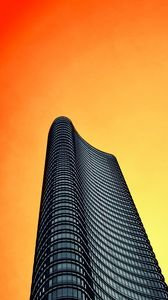 Preview wallpaper tower, building, architecture, minimalism, sky, orange