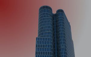 Preview wallpaper tower, building, architecture, modern, minimalism