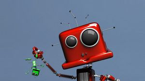 Preview wallpaper toy, bug, red, robot