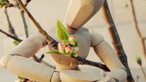 Preview wallpaper toy, sadness, flowers