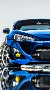 Preview wallpaper toyota, blue, front bumper, tuning