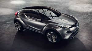 Preview wallpaper toyota, c-hr, side view, gray
