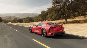 Preview wallpaper toyota, ft-1, concept, car, speed, side view