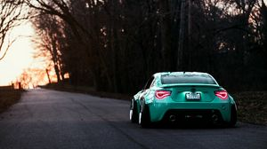 Preview wallpaper toyota, gt86, rear view, evening