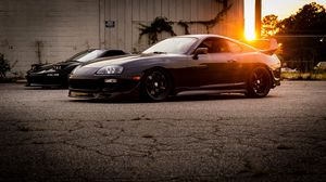 Preview wallpaper toyota, supra, side view, light