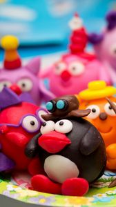 Preview wallpaper toys, cartoon, clay, kids