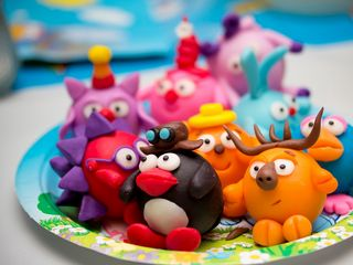 320x240 Wallpaper toys, cartoon, clay, kids