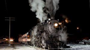 Preview wallpaper train, road, smoke