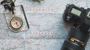 Preview wallpaper travel, map, compass, camera