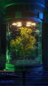 Preview wallpaper tree, bulb, sci-fi, fiction, 3d