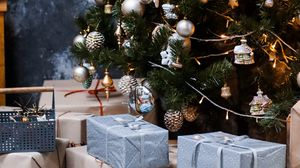 Preview wallpaper tree, decoration, gifts, new year, christmas