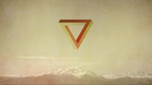 Preview wallpaper triangle, abstract, waves, mountains