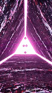 Preview wallpaper triangle, glow, 3d