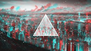 Preview wallpaper triangle, light, blurred