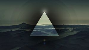 Preview wallpaper triangle, light, dark