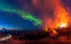 Preview wallpaper triangles, geometric, mosaic, multicolored
