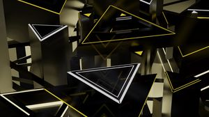 Preview wallpaper triangles, shapes, 3d, structure, volume