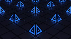 Preview wallpaper triangles, triangle, backlight, shapes