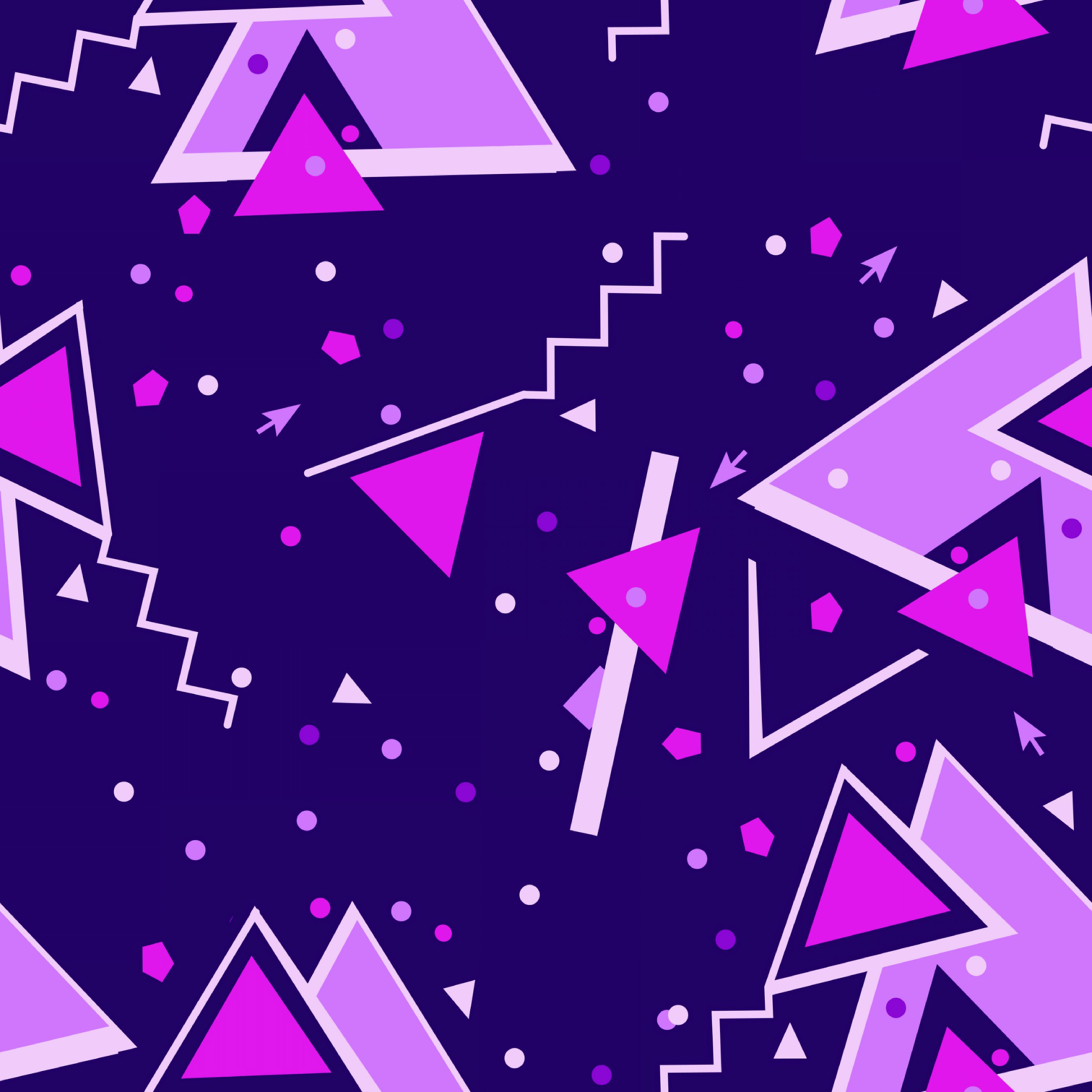2780x2780 Wallpaper triangles, triangle, colorful, geometric, lines, shapes