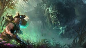 Preview wallpaper troll, dog, art, forest