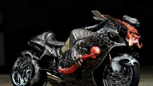 Preview wallpaper tuning, sport bike, airbrush, design