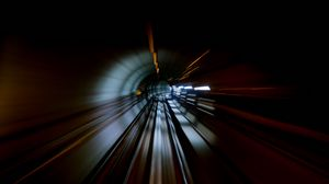 Preview wallpaper tunnel, motion, speed, dark, darkness