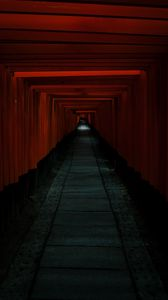 Preview wallpaper tunnel, passage, dark, red
