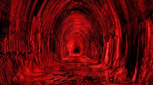 Preview wallpaper tunnel, red, black, light