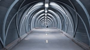 Preview wallpaper tunnel, road, bridge, construction, symmetry